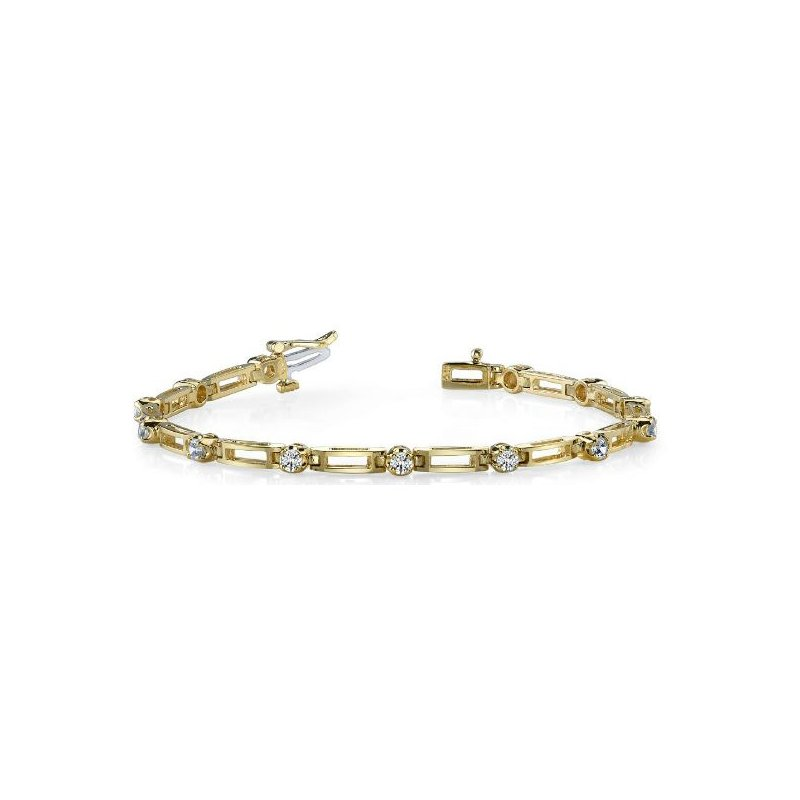 Briana Yellow & White Gold Diamond Bracelet