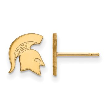 Gold Michigan State University NCAA Earrings