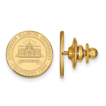 Gold Southern Illinois University NCAA Lapel Pin
