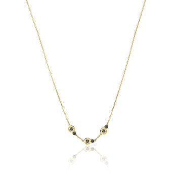 Petite Gemstone Necklace with Black Onyx
