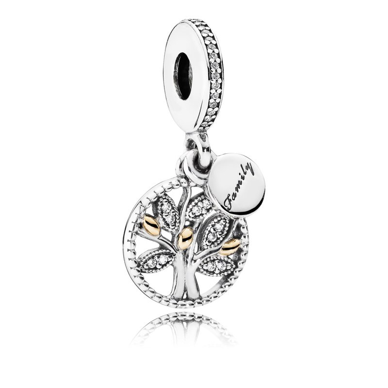 PANDORA Family Heritage Dangle Charm, Clear CZ