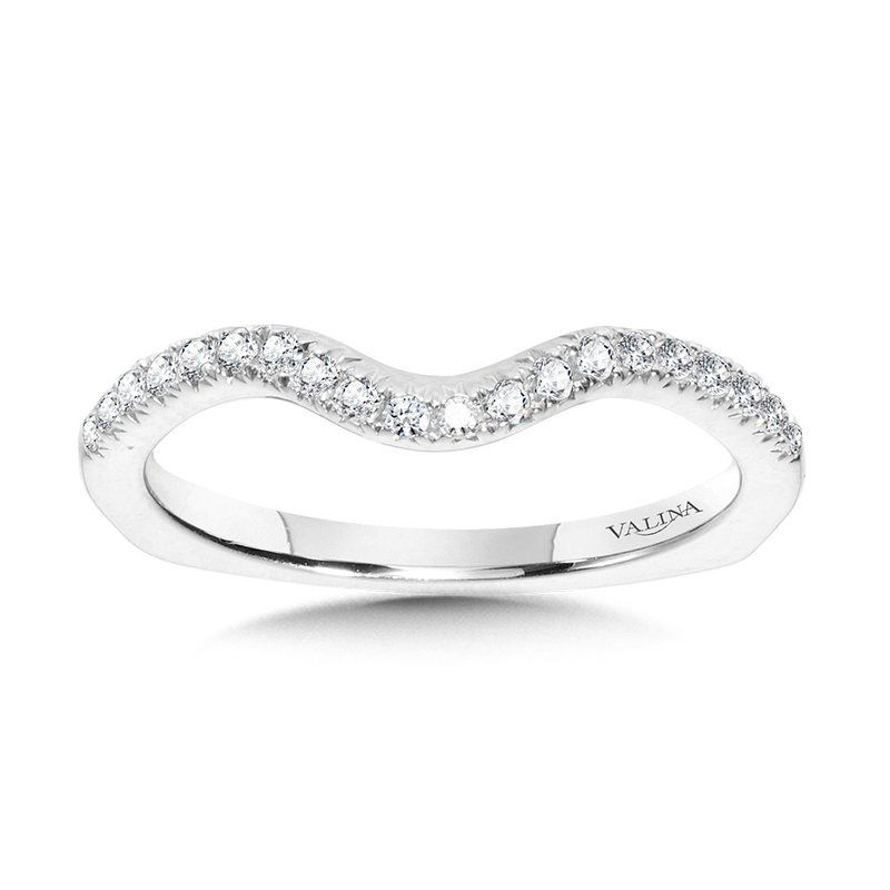 Valina Bridals Curved Diamond Wedding Band
