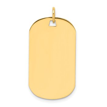 14k Plain .035 Gauge Engraveable Dog Tag Disc Charm