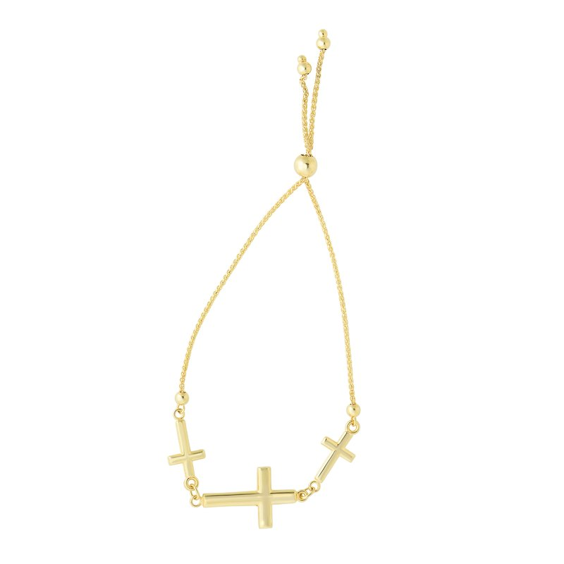 Royal Chain 14K Gold Crosses Friendship Bracelet