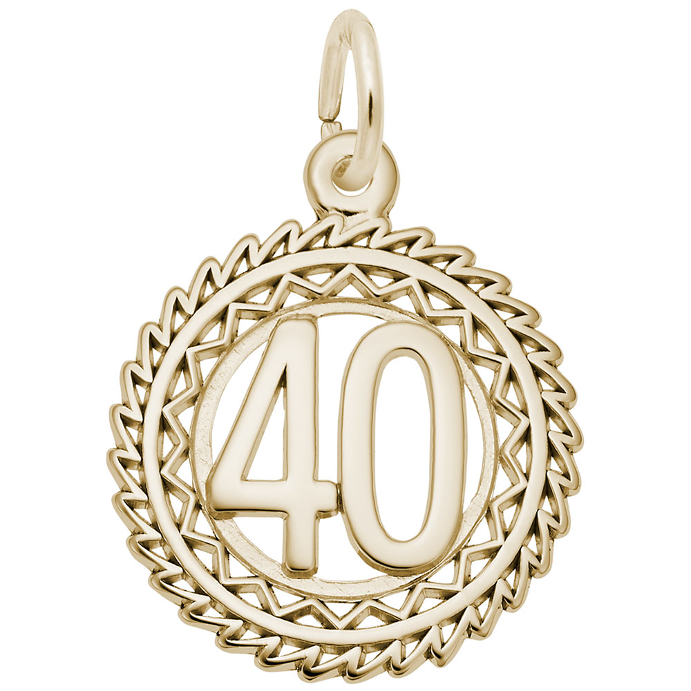 10K Yellow Gold Rembrandt Charms Number 44 Charm