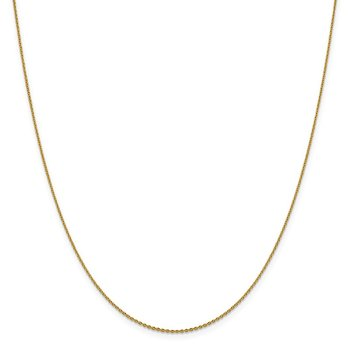 Leslie's 14K 1.15 mm D/C Oval Open Cable Link Chain