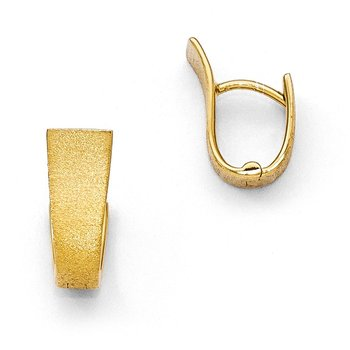Leslie's Sterling Silver Gold-plated Textured Hoop Earring