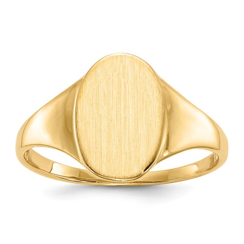 Quality Gold 14k 12.0x8.5mm Open Back Signet Ring
