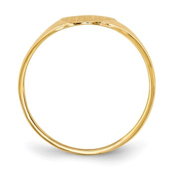 14k 12.0x8.5mm Open Back Signet Ring