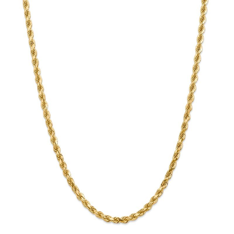 Quality Gold 14k 4.5mm D/C Rope with Lobster Clasp Chain