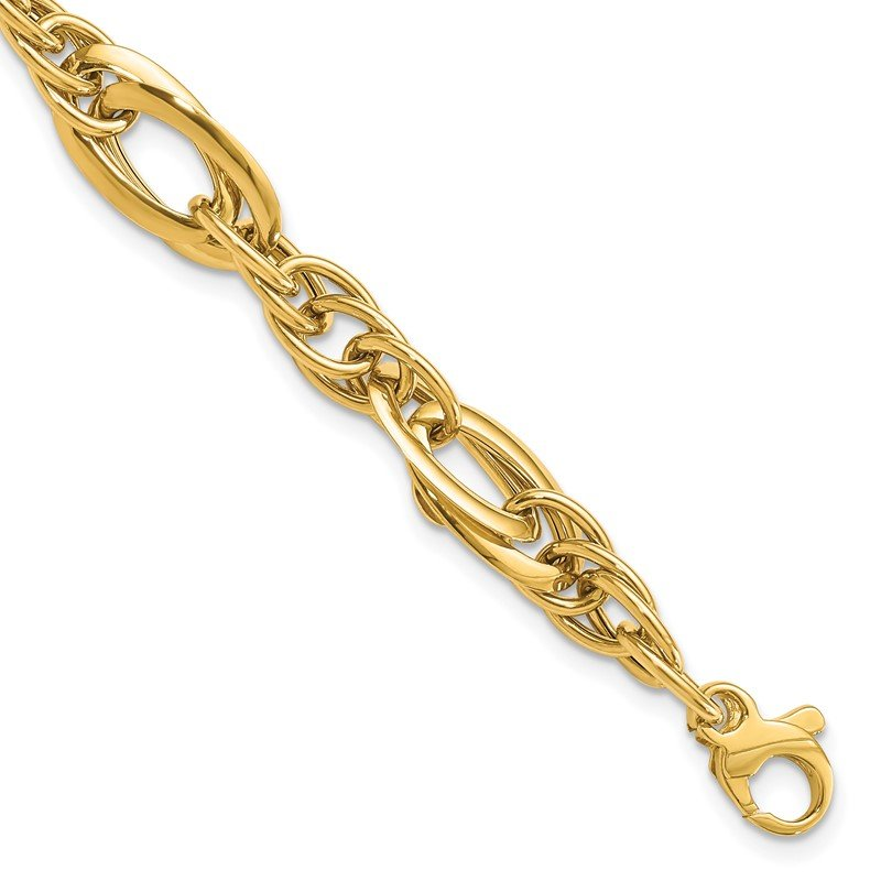 Quality Gold 14k Fancy Link 18in Necklace