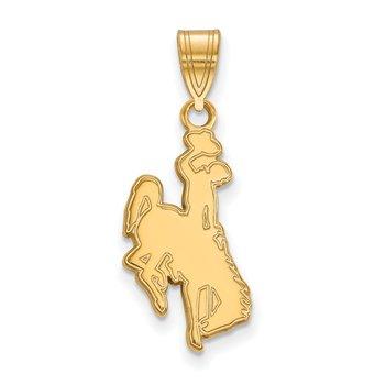 Gold-Plated Sterling Silver University of Wyoming NCAA Pendant