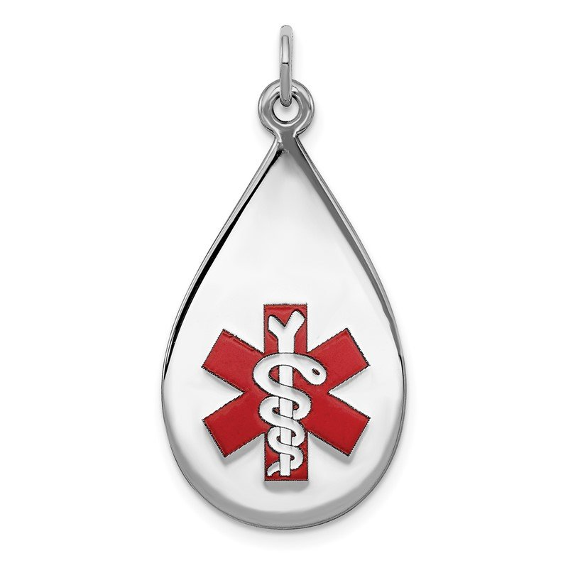Quality Gold Sterling Silver Rhodium-plated Medical Jewelry Pendant