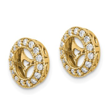14k A Diamond Earring Jacket
