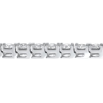 14K White Gold Prong Diamond Bracelet 10CT