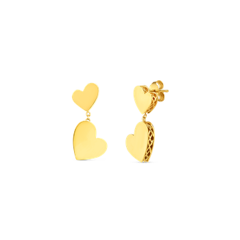 18KT GOLD PRINCESS HEART AMORE EARRINGS