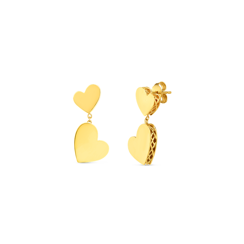 Roberto Coin 18KT GOLD PRINCESS HEART AMORE EARRINGS