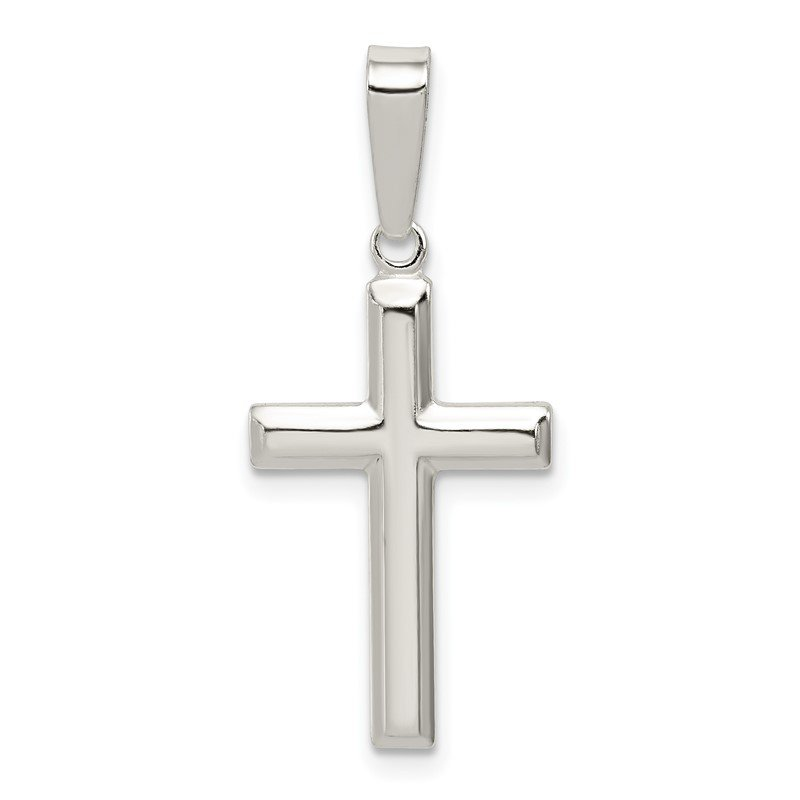 Fine Jewelry by JBD Sterling Silver Polished Cross Pendant
