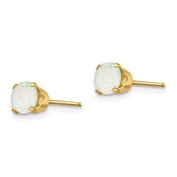 14k 5mm Opal Earrings - October