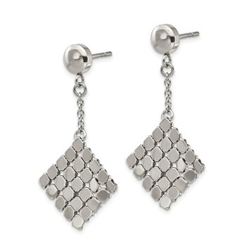 Stainless Steel Polished Post Dangle Earrings