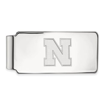 Sterling Silver University of Nebraska NCAA Money Clip
