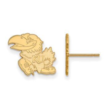 Gold University of Kansas NCAA Earrings