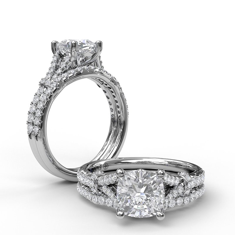 Fana Distinctive Diamond Engagement Ring with a Subtle Split Band