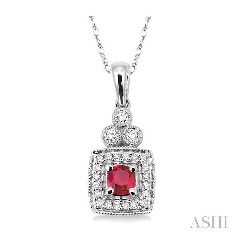ASHI gemstone & diamond pendant