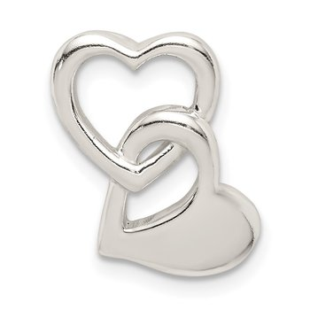 Sterling Silver Intertwined Hearts Chain Slide