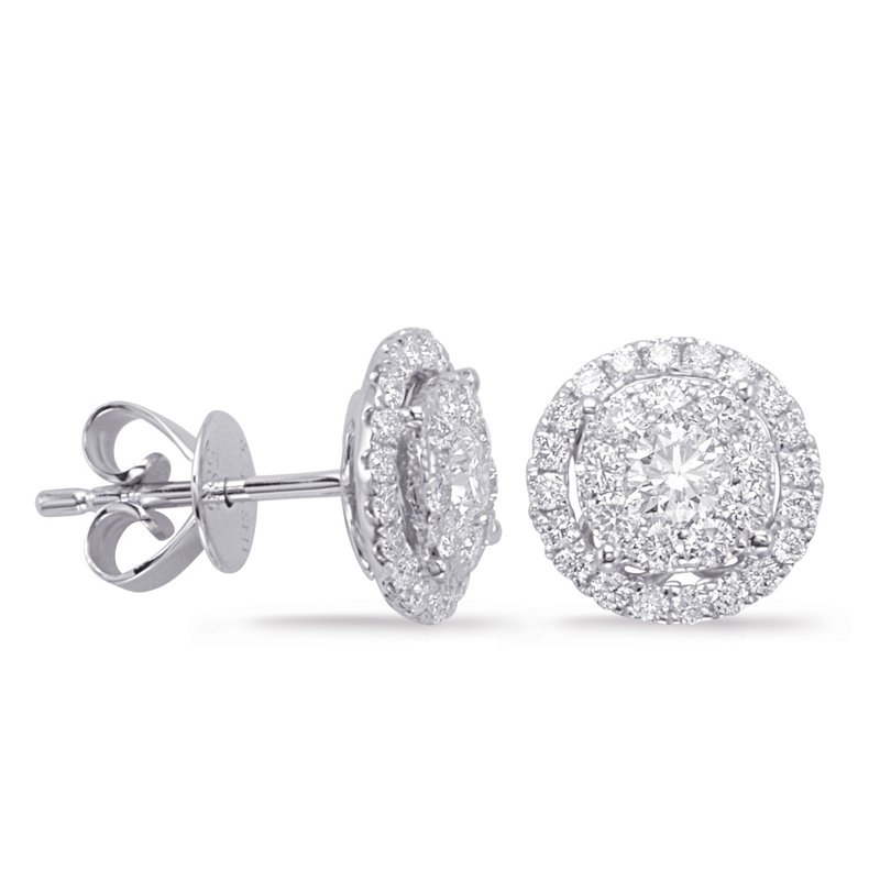 S. Kashi  & Sons White Gold Diamond Earring 0.33cttw