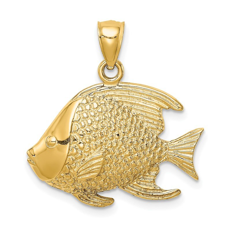 Quality Gold 14K Fish Pendant