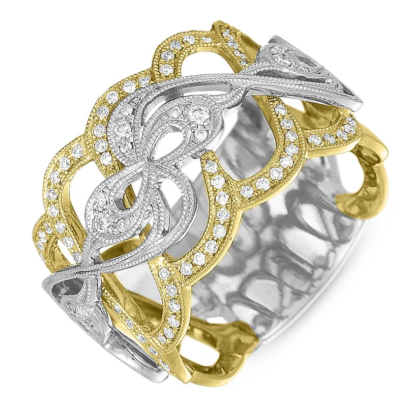 Briana White & Yellow Gold Pave Band