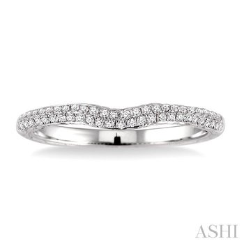 TWO ROW DIAMOND WEDDING BAND