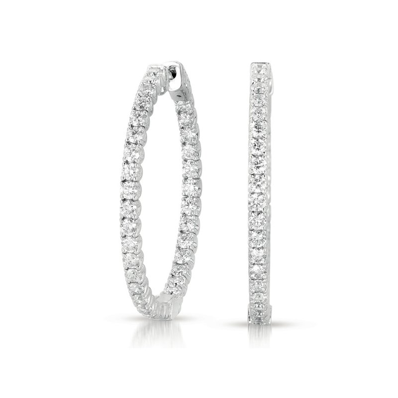 S. Kashi  & Sons 1.5  Securehinge Hoop Earring