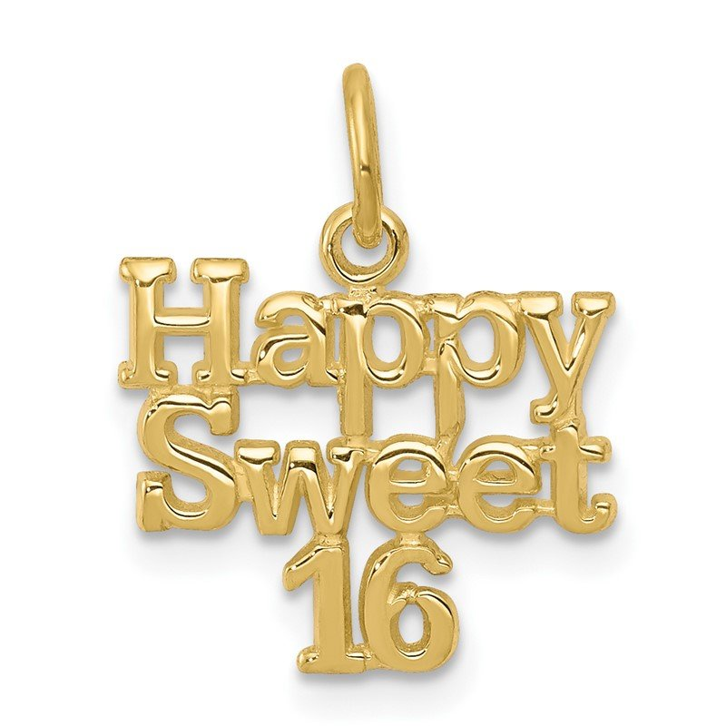 Quality Gold 10k HAPPY SWEET 16 Charm