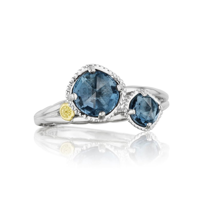 Tacori Fashion Budding Brilliance Duo Ring featuring London Blue Topaz