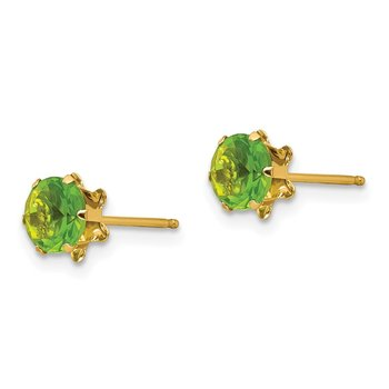 14k Madi K 5mm Synthetic (Aug) Earrings