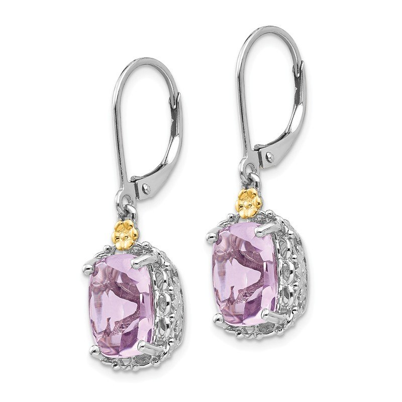 Shey Couture Sterling Silver w/14k Pink Quartz Earrings