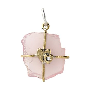 Touchstones - Heart Infusion Rose Quartz Talisman