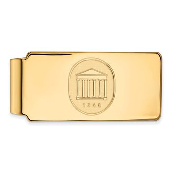 Gold University of Mississippi NCAA Money Clip