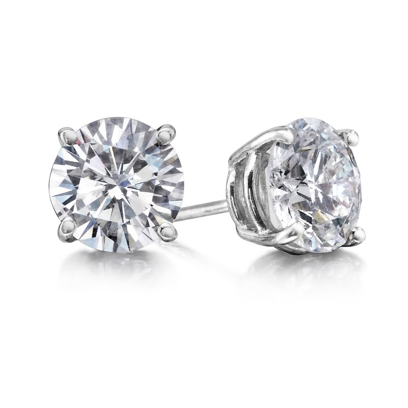 4 Prong 3.01 Ctw. Diamond Stud Earrings