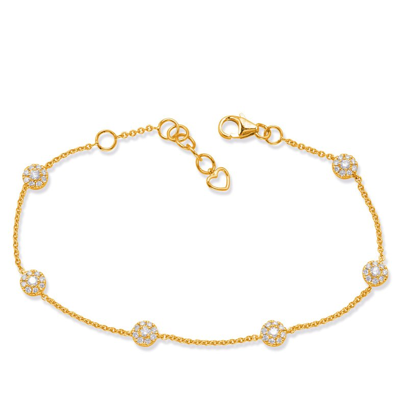 Briana Yellow Gold Diamond Bracelet