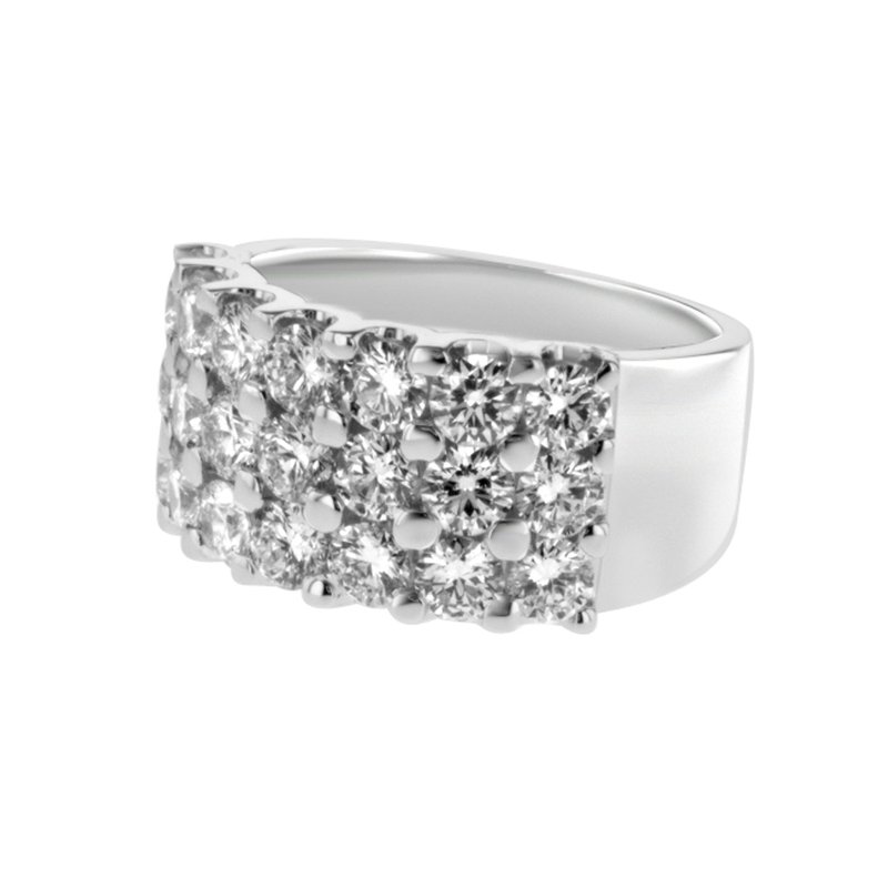 Briana White Gold Diamond Wedding Band