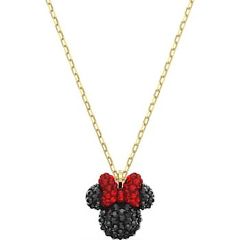 Minnie Pendant, Black, Gold-tone plated