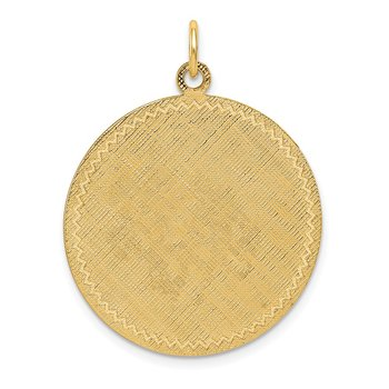 14k Patterned .018 Gauge Circular Engravable Disc w/Satin Back
