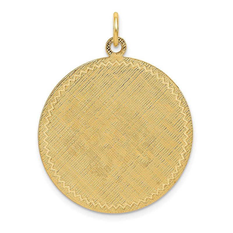 Quality Gold 14k Patterned .018 Gauge Circular Engravable Disc w/Satin Back