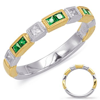 Yellow & White Gold Emerald & Diamond