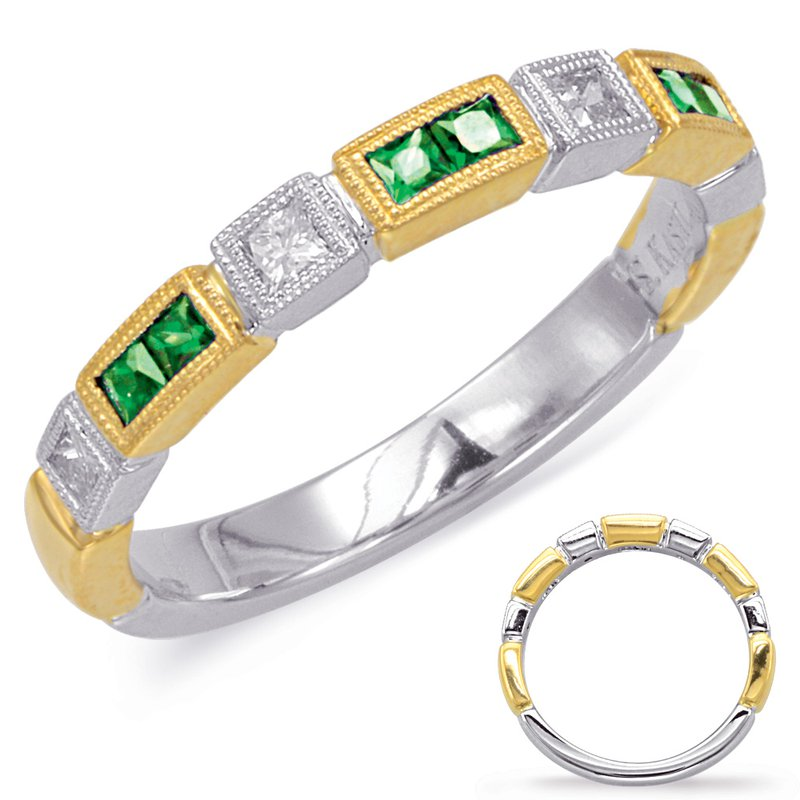 S. Kashi  & Sons Yellow & White Gold Emerald & Diamond