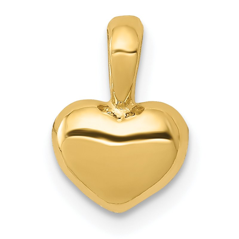 Quality Gold 14K Polished Domed Heart Charm