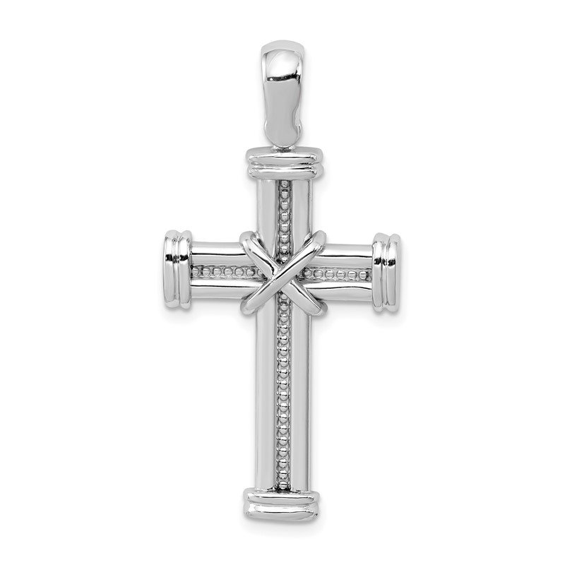 Fine Jewelry by JBD 14k White Gold Latin Cross Pendant